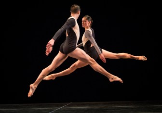 "Joshua Tuason and Melissa Toogood dance in ""Locomotor."""