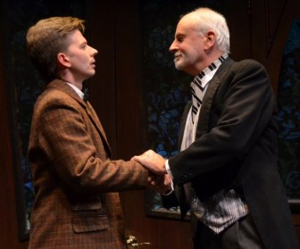 """Christopher J. Young, left, and Craig MacDonald co-star in """"The Nether,"""" which is at the Sitnik Theatre of the Lackland Center in Hackettstown through Oct. 15."""