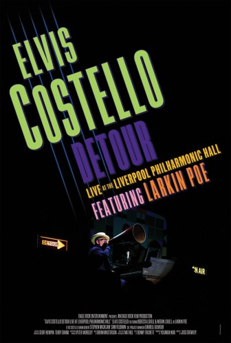 """Elvis Costello's concert film """"Detour"""" will be shown at the Count Basie Theatre Jan. 14."""