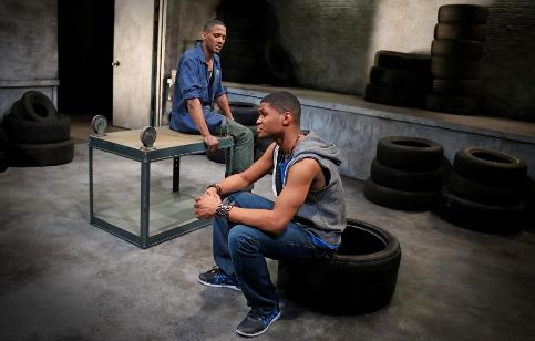 "Brandon Carter, left, and Shamsuddin Abdul-Hamid co-star in ""The Brothers Size,"" which is at Luna Stage in West Orange through March 6."