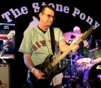 Dez Cadena, performing at The Stone Pony.