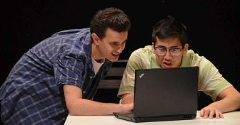 "Donald Danford, left, and Timothy Liu co-star in ""Start Down,"" which is at the Lackland Center in Hackettstown through April 24."