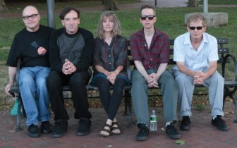 The Feelies (from left, Stan Demeski, Dave Weckerman, Brenda Sauter, Glenn Mercer and Bill Million) perform at Rent Party in Maplewood on Friday and Saturday.