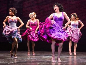 "Natalie Cortez, second from right, plays Anita in ""West Side Story."""