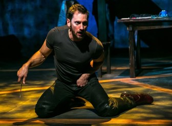 "Derek Wilson stars at the title character of ""Richard III,"" which is at the Shakespeare Theatre of New Jersey in Madison through Nov. 6."