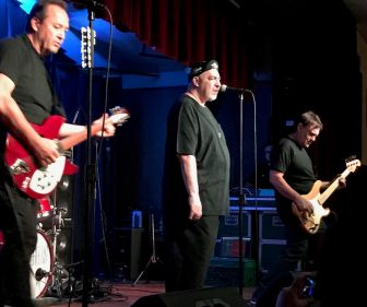From left, Jim Babjak, Pat DiNizio and Mike Mesaros of The Smithereens at the Hungarian American Citizens Club in Woodbridge, Oct. 29.