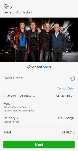 More than $1,000 for best seats at NJ Rolling Stones concert