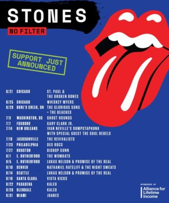 Rolling Stones opening act NJ