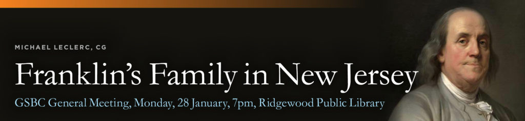 Franklin's Family in New Jersey @ Ridgewood Public Library | Ridgewood | New Jersey | United States