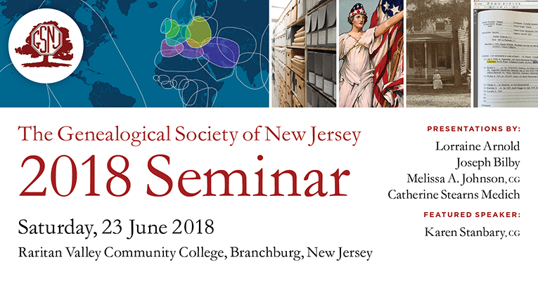 GSNJ 2018 Seminar @ Raritan Valley Community College, Conference Center | Branchburg | New Jersey | United States