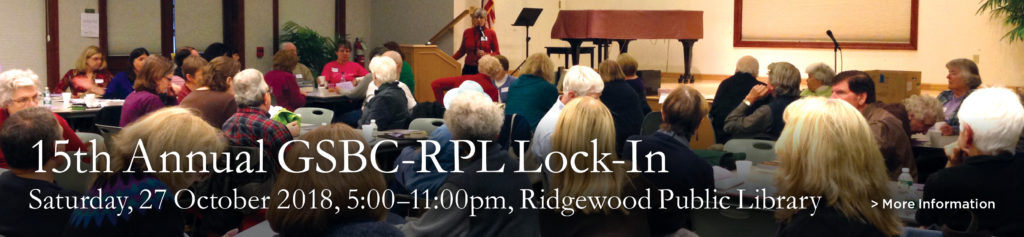 GSBC-RPL 15th Annual Genealogy Lock-In—Registration Now Open! @ Ridgewood Public Library | Ridgewood | New Jersey | United States