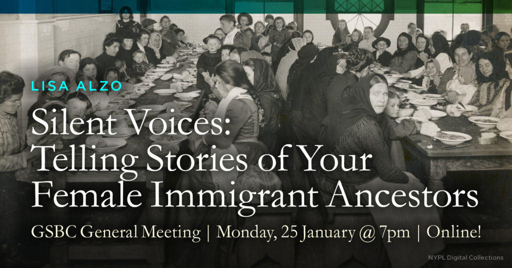 Silent Voices: Telling Stories of Your Female Immigrant Ancestors