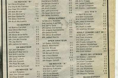 Results Flashback RPMX 4/23/89