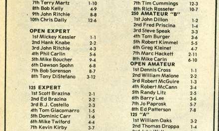 Results Flashback RPMX 5/31/81