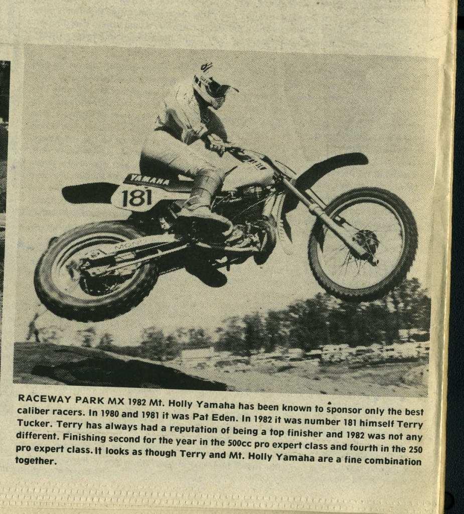 Terry Tucker Raceway News 1982