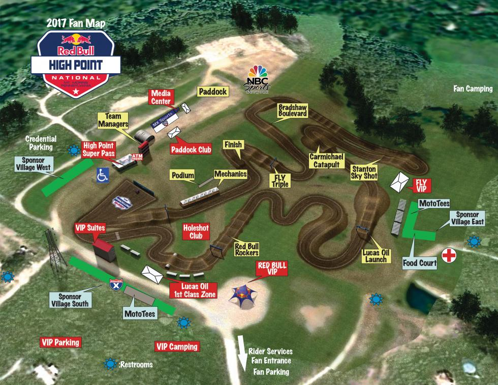 high point national track map