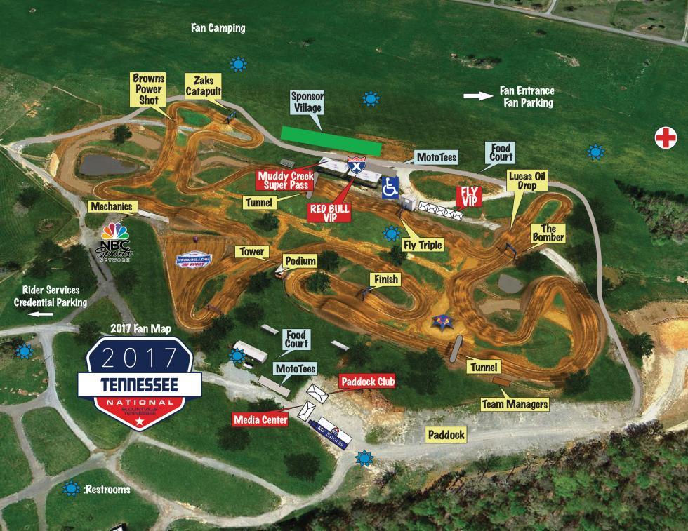 muddy creek track map
