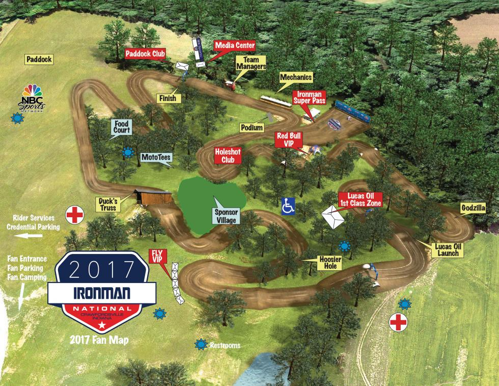 ironman track map