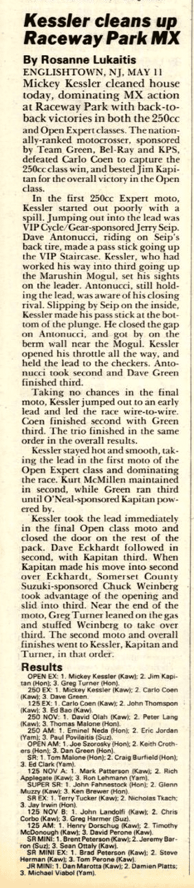 cycle news englishtown may 11, 1986