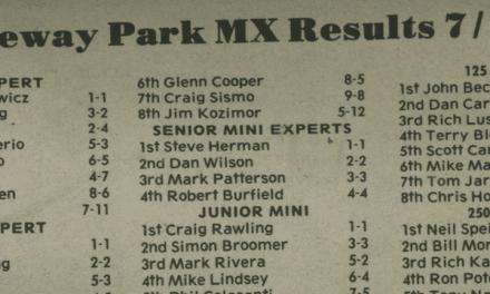 Raceway Park Results 7/7/85
