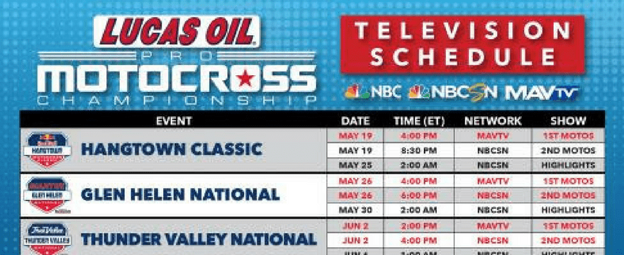 36 Hours of Live Coverage for 2018 Lucas Oil Pro Motocross Championship