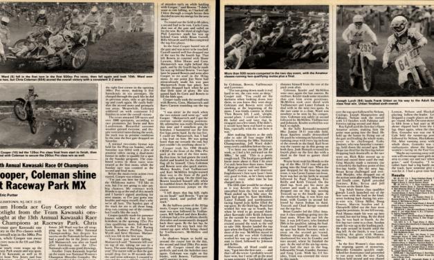 Kawasaki Race of Champions Results 1989