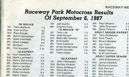 Raceway Park Results 9/6/87