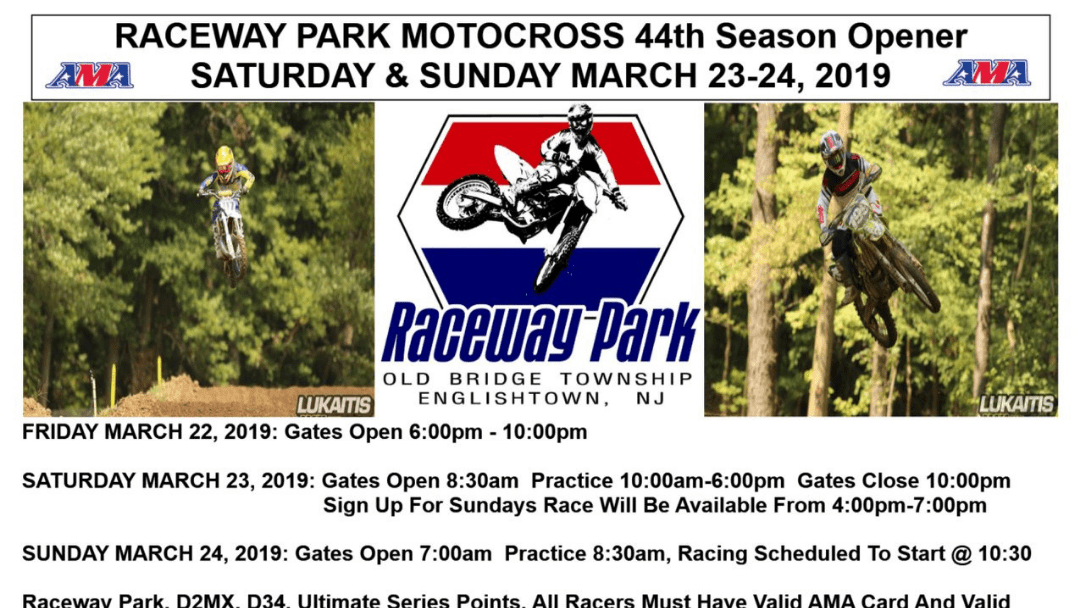 Raceway Park Opening Day – This Weekend