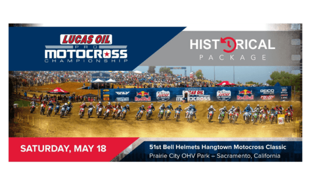 Bell Helmets Hangtown Motocross Classic Historical Notes Package