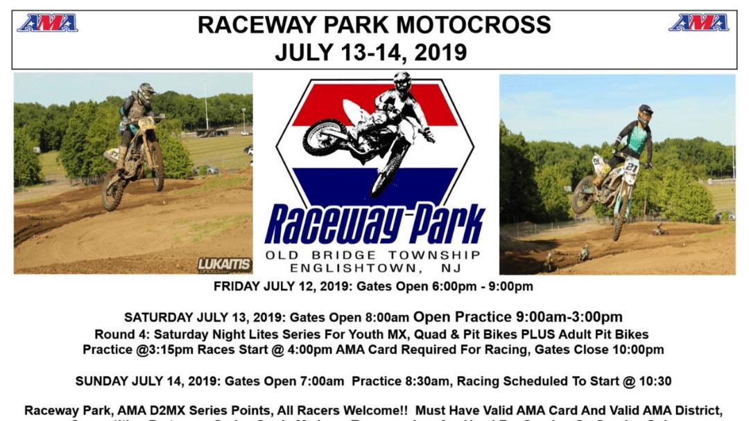 Raceway Park Weekend Schedule July 13-14, 2019