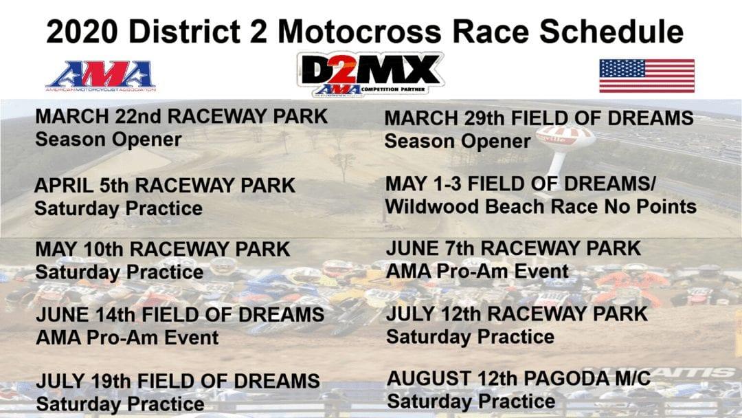 2020 Raceway park schedule announced