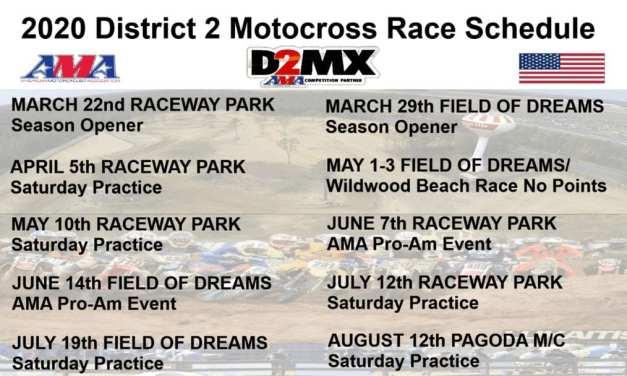 2020 D2MX Schedule