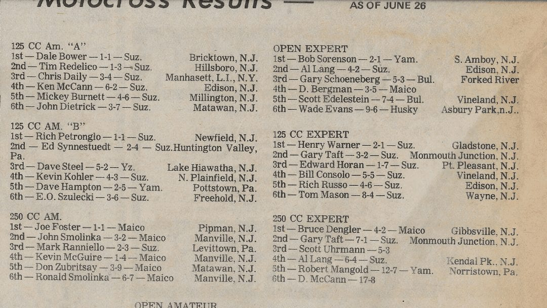 Raceway Park Results from June 26, 1977