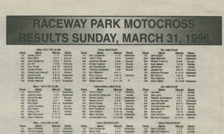 Raceway Park Results from 3/31/96