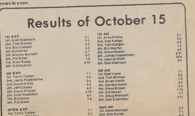 Raceway Park Results from 10/15/78