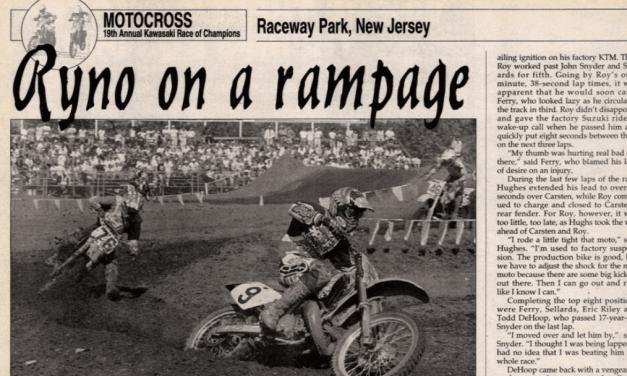 Raceway Park Results from KROC 1995