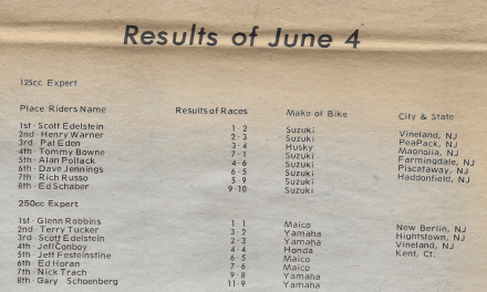 RACEWAY PARK RESULTS FROM 6/4/78
