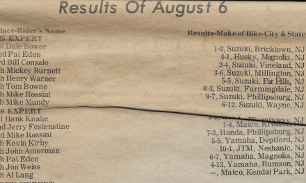 Raceway Park Results from 8/6/78