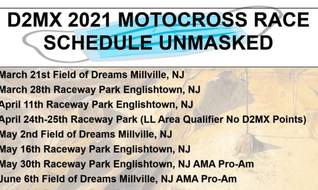 2021 D2MX Schedule