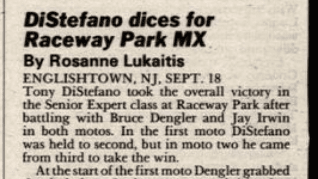 Raceway Park Results from 9/18/88