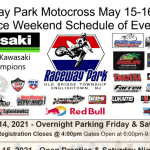 RACEWAY PARK MOTOCROSS – WEEKEND SCHEDULE