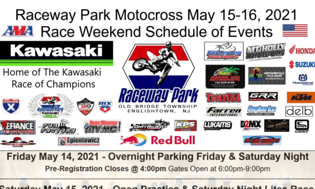 RACEWAY PARK MOTOCROSS – WEEKEND SCHEDULE