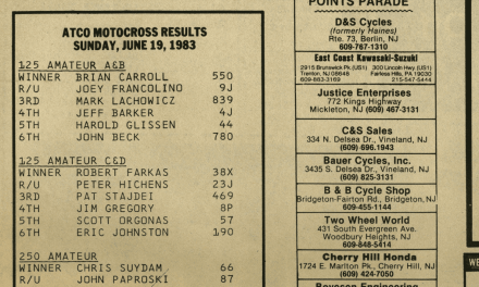 Atco MX Results from 6/19/83