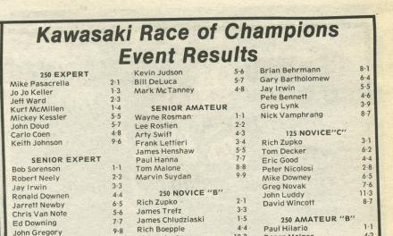Kawasaki Race of Champions – 1988 Results