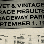 Raceway Park Vet and Vintage Race Results from 9/1/96