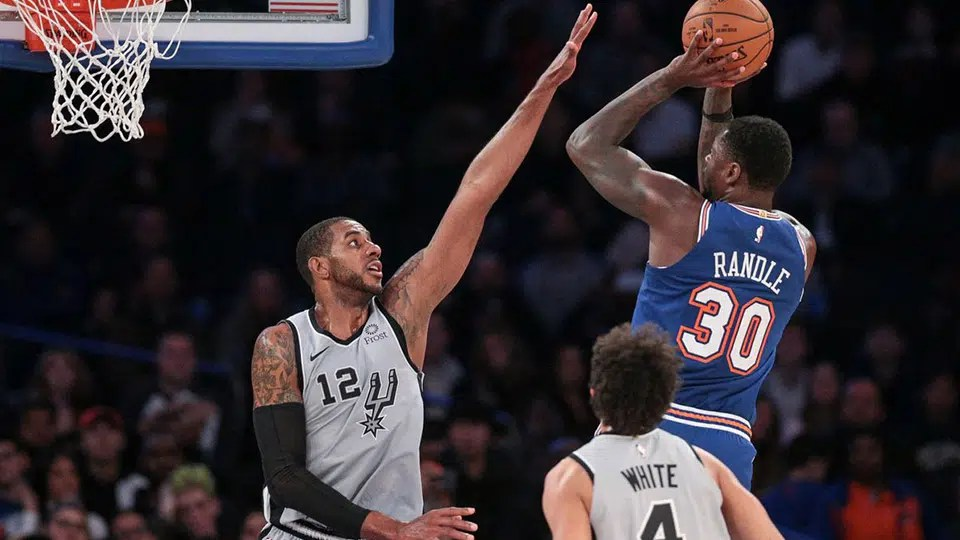 The surprising New York Knicks go for a fourth straight win when they visit the San Antonio Spurs on Tuesday night.