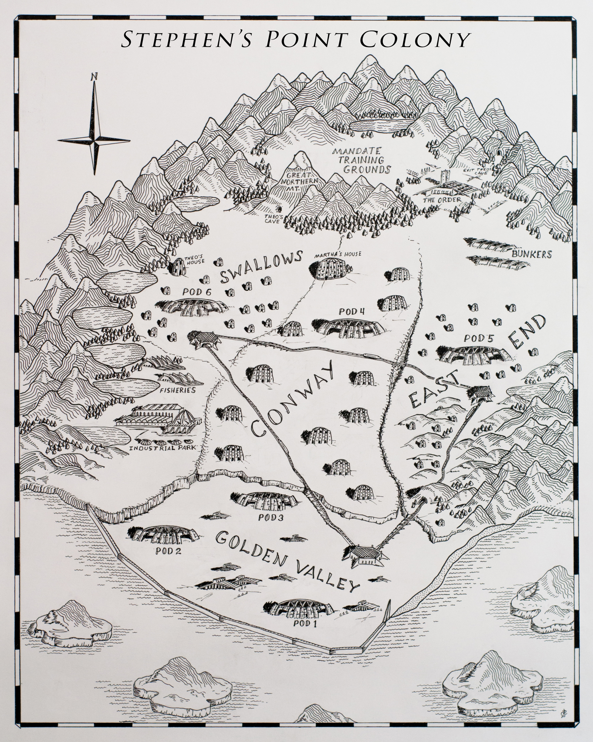 Stephen's Point Colony Map