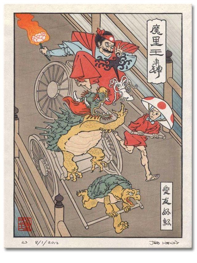 浮世絵 マリオカート