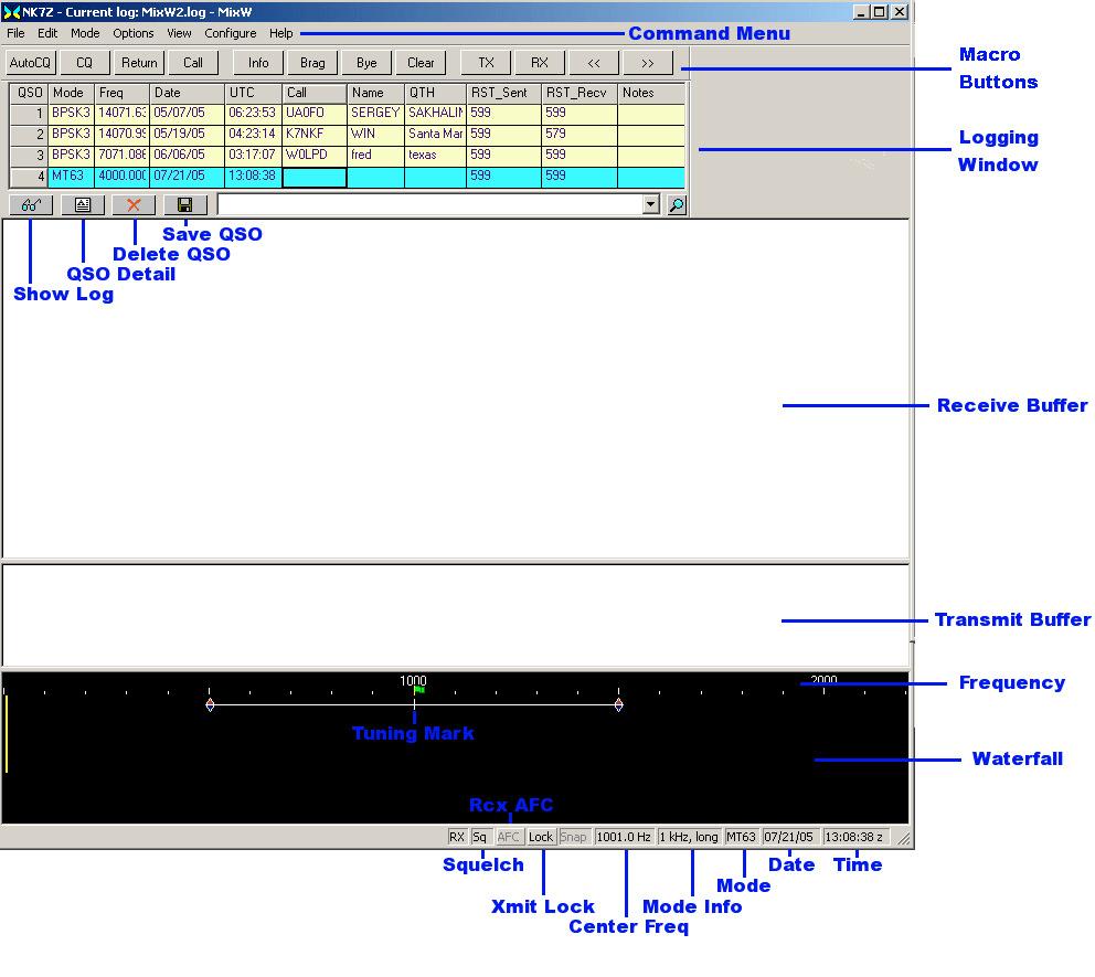 Software setup for MixW