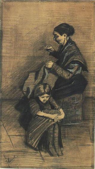 Vincent-van-Gogh-Sien-ve-kizi-Maria